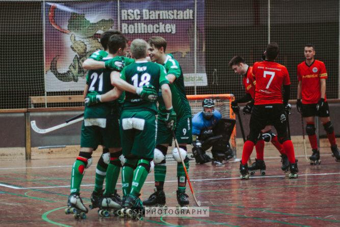 RSC Löwen holen einen Punkt in Darmstadt