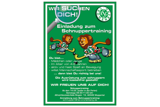 Nächstes Rollhockey-Schnuppertraining am 03.10.20 ab 9.30 Uhr